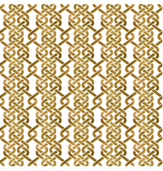 Traditional repeatable background golden vector