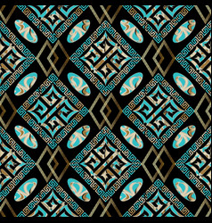 trendy geometric seamless pattern black vector image