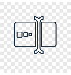 Typing concept linear icon isolated on vector