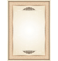 vintage frame at grunge background with retro vector image