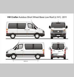 Volkswagen crafter passenger bus l1h1 2011 vector