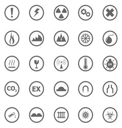Warning sign icons on white background vector image