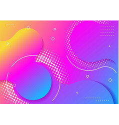 Wavy geometric with fluid design background vector