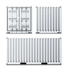 White cargo container classic cargo vector