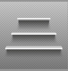 White empty shelves blank bookshelves simplicity vector