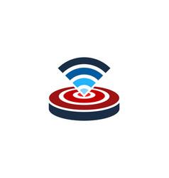 Wifi target logo icon design vector