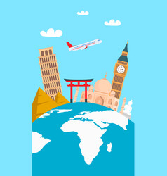 world tour vacation color flyer banner vector image