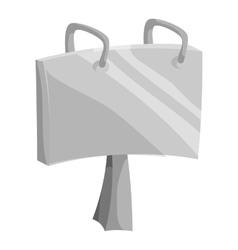 Advertise billboard icon black monochrome style vector image