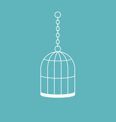 cage icon flat design vector image