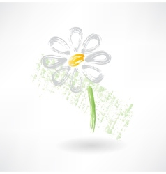 Daisy grunge icon vector image
