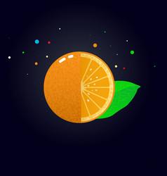 juicy orange slice vector image