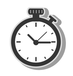 timer clock time icon vector image