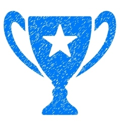 Trophy Cup Grainy Texture Icon vector image vector image