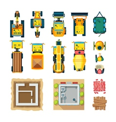 Construction Icons Set Top View vector image vector image