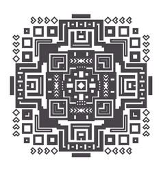 decorative geometric ethnic pattern ornament vector image vector image