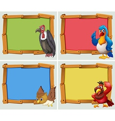 Frame design and wild birds vector image