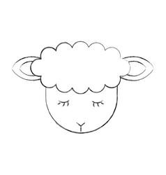 Cute lamb character icon vector