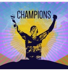 Digital abstract winner sportman champion vector image vector image