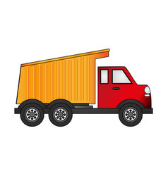dump truck icon image vector image vector image