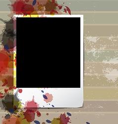 grunge old frame picture design vector image