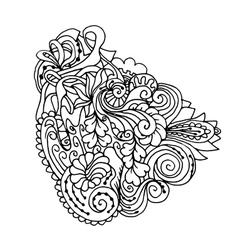 Mono color black line art element for adult vector image vector image