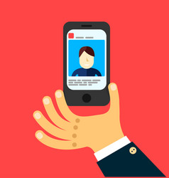 social network on mobile internet vector image vector image
