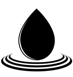 A drop of oil vector image vector image
