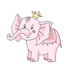 baby elephant pink-01 vector image