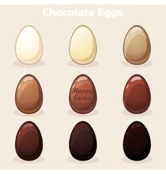 Cartoon Easter Chocolate Eggs vector image