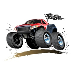 Cartoon Monster Buggy vector image