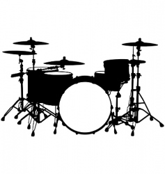 drum kit vector image vector image