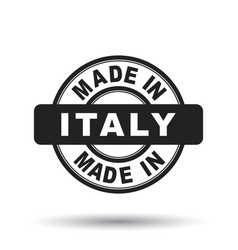 made in italy black stamp on white background vector image