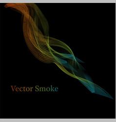smoke multicolored on blackground vector image