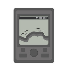 Sounder for fishing icon flat cartoon style vector
