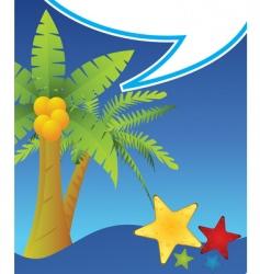 starfish and sea vector image
