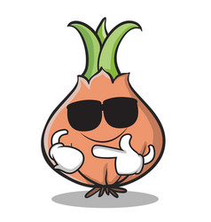 super cool onion character cartoon vector image vector image