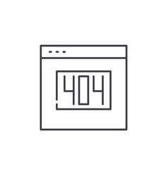 404 error line icon concept 404 error vector image