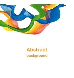 Abstract colorful wave backdrop vector