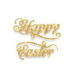 Abstract Golden Hand Written Easter Phrase vector image