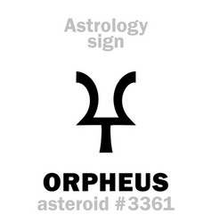 astrology asteroid orpheus vector image