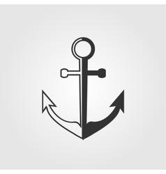 black anchor icon vector image