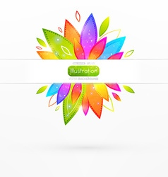 Bright Floral Banner vector