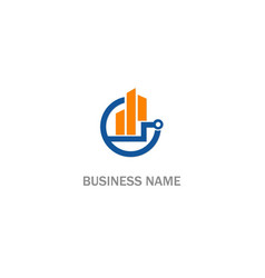 business progress technology logo vector image