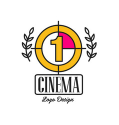 Cinema or movie logo template creative design with vector