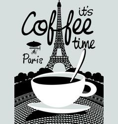 coffee banner on background of prague landscape vector image