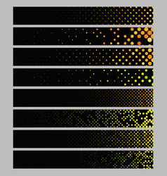 color abstract dot pattern rectangular web banner vector image