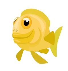 Comic cartoon fish vector