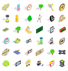 competition icons set isometric style vector image