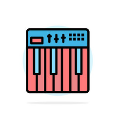 controller hardware keyboard midi music abstract vector image