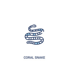 Coral snake concept 2 colored icon simple line vector